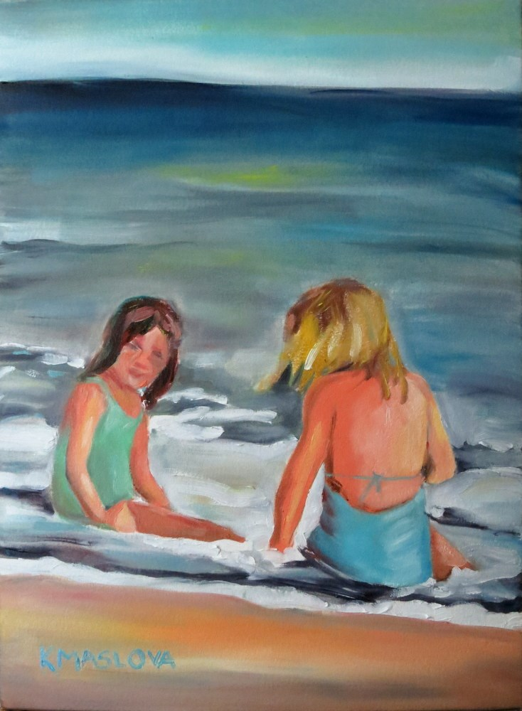 """Summer Day"" original fine art by Kulli Maslova"