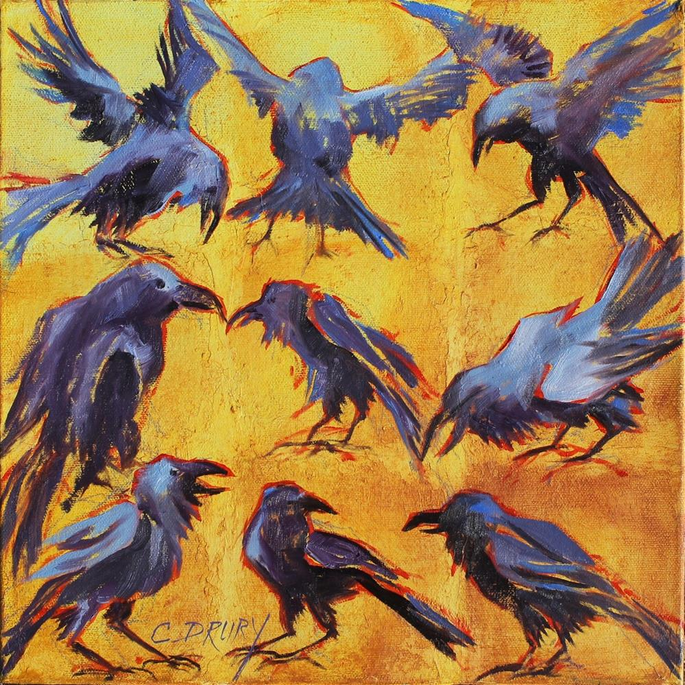"""Ravens Take Flight"" original fine art by Colleen Drury"