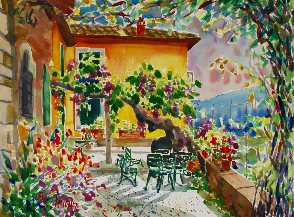 """Italian Dreamscape"" original fine art by Virginia Fergus"
