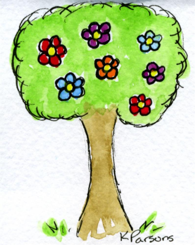 """Spring Tree"" original fine art by Kali Parsons"