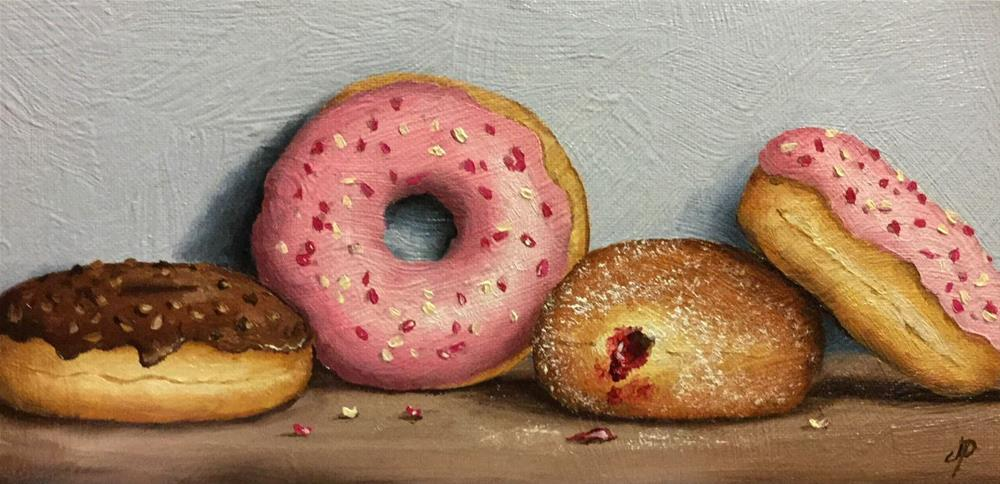 """Four Donuts"" original fine art by Jane Palmer"