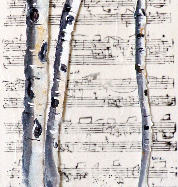 """ASPEN MELODY ORIGINAL PAPER CAST PAINTING OF ASPEN © SAUNDRA LANE GALLOWAY and NEW GALLERY"" original fine art by Saundra Lane Galloway"