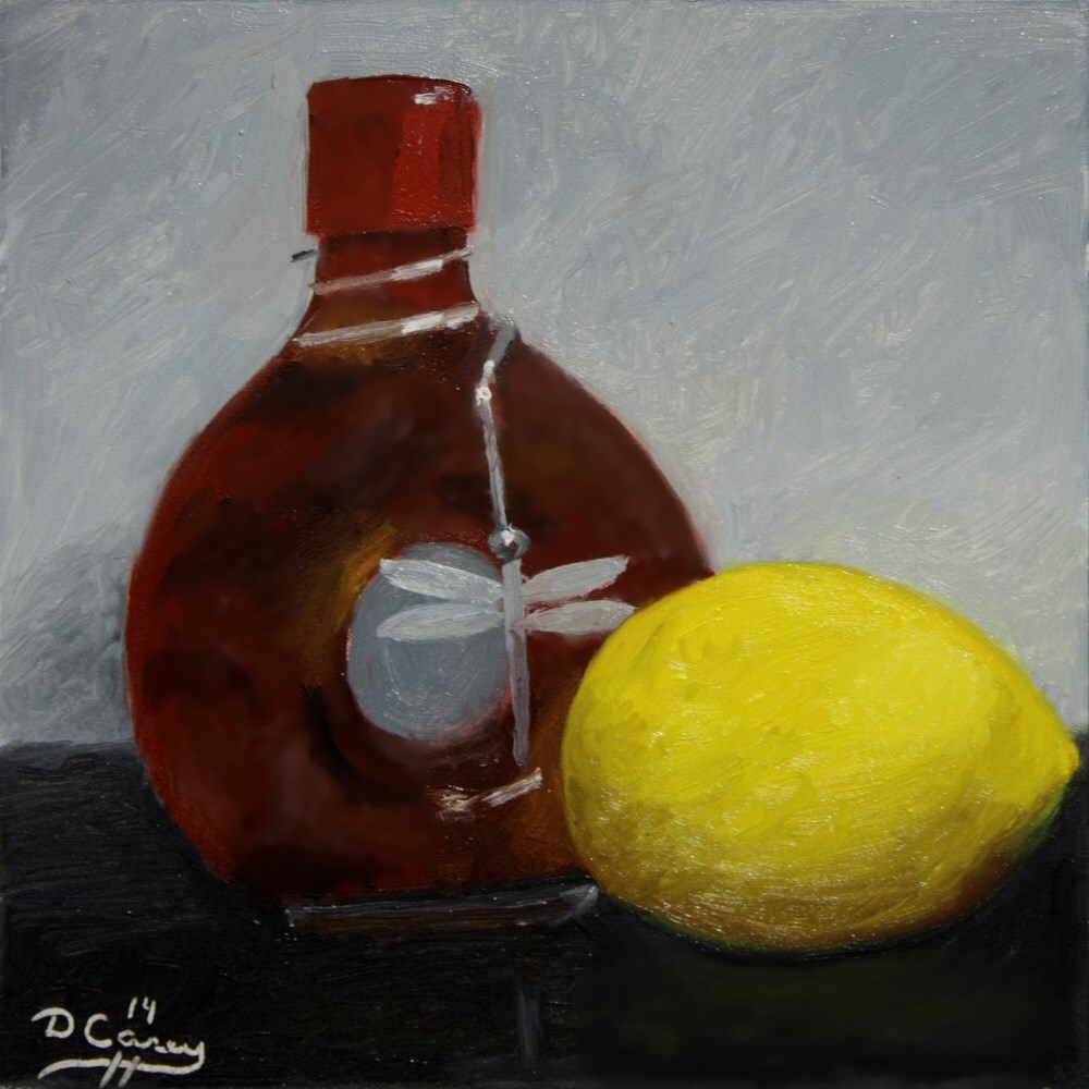 """Kitchen Painting - Spiced Vinegar and Lemon"" original fine art by Dave Casey"