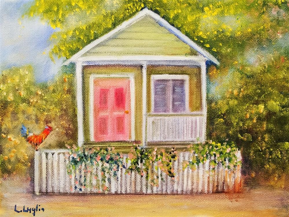 """Key West Cottage"" original fine art by Loretta Luglio"
