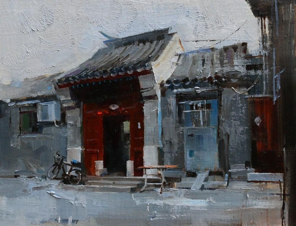 """""""Beijing Hutong 2014 - 3"""" original fine art by Qiang Huang"""