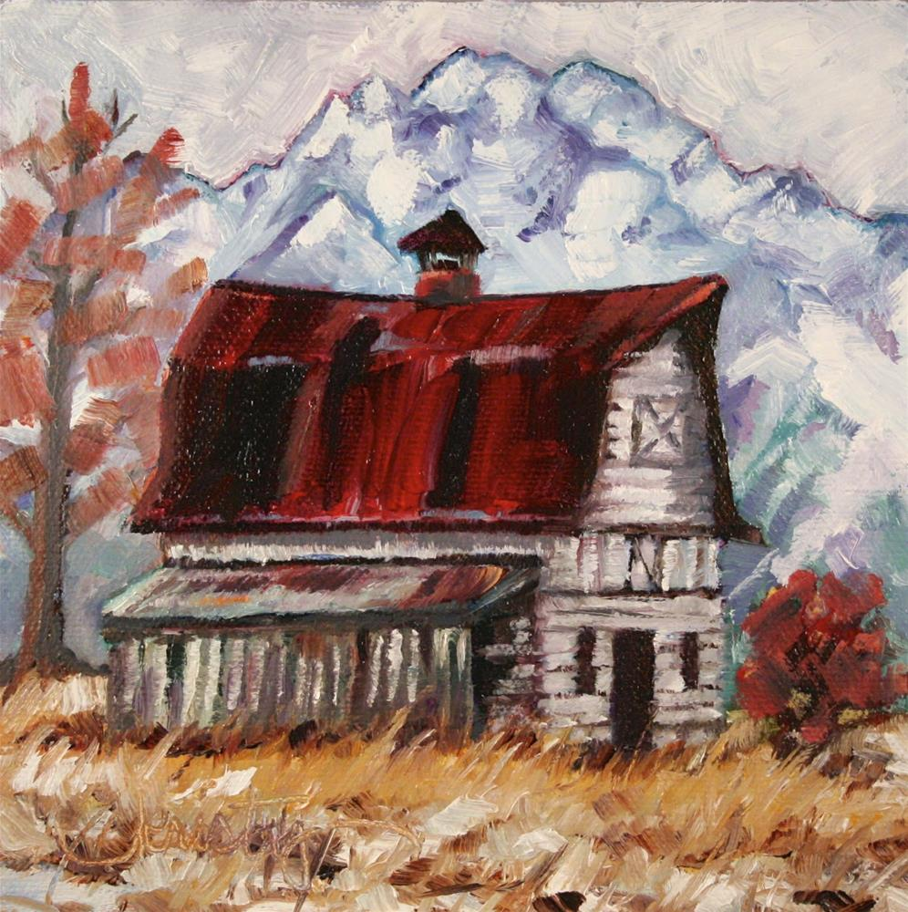 """COLONY BARN"" original fine art by Kristy Tracy"