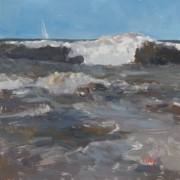 """Away from Shore"" original fine art by Randall Cogburn"