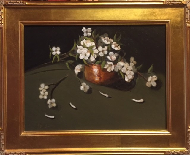 """Dogwood in Copper Pot"" original fine art by Cheryl J Smith"