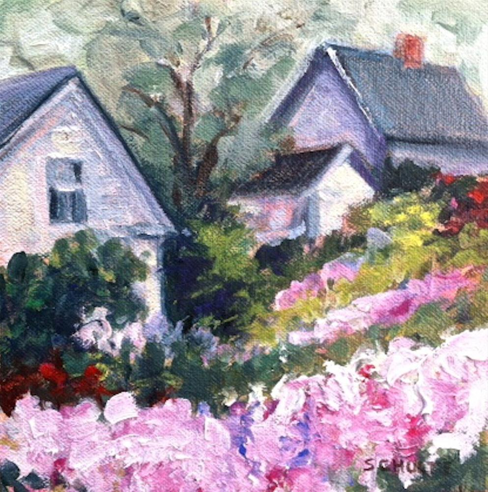 """Stonington Hillside"" original fine art by Lynne Schulte"