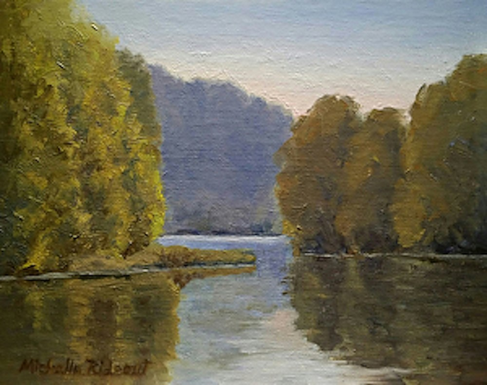 """Just Around the River Bend"" original fine art by Michelle Rideout"