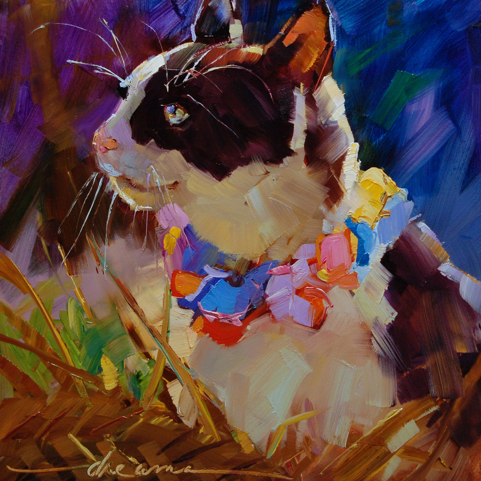 """To All the Cats Ed's Loved Before  SOLD"" original fine art by Dreama Tolle Perry"