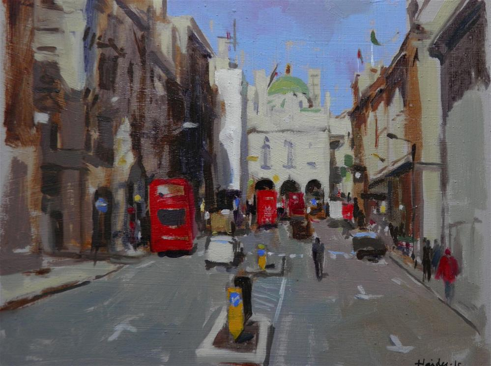 """Towards Pall Mall"" original fine art by Haidee-Jo Summers"