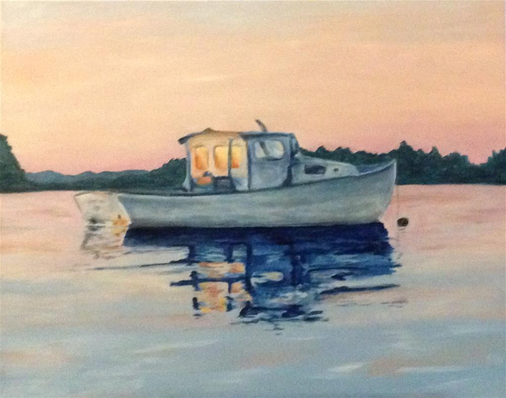 """Billy's Boat"" original fine art by Karen Collins"