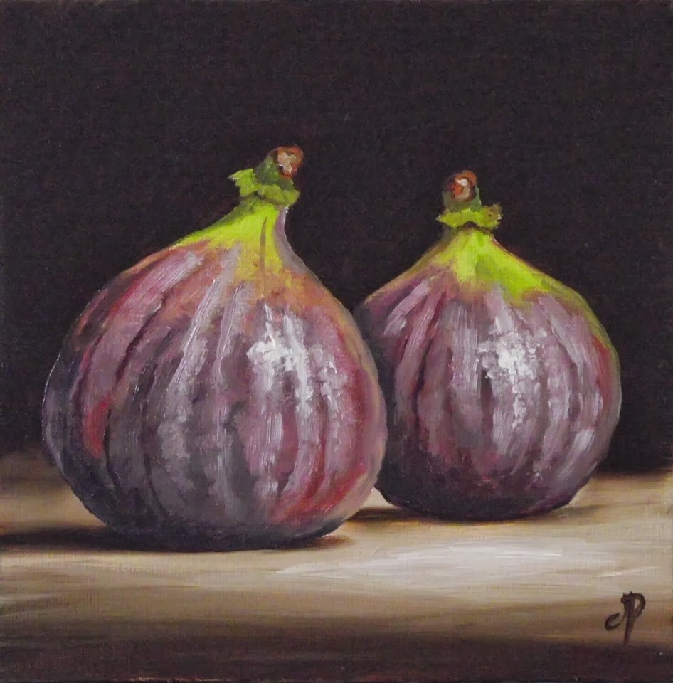 """Pair of Figs"" original fine art by Jane Palmer"