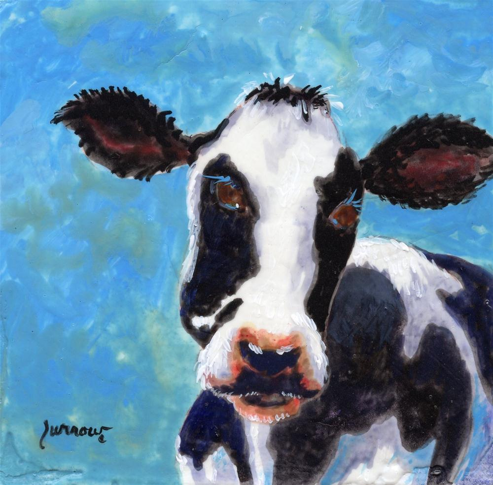 """Moma Moo No.2"" original fine art by Sue Furrow"