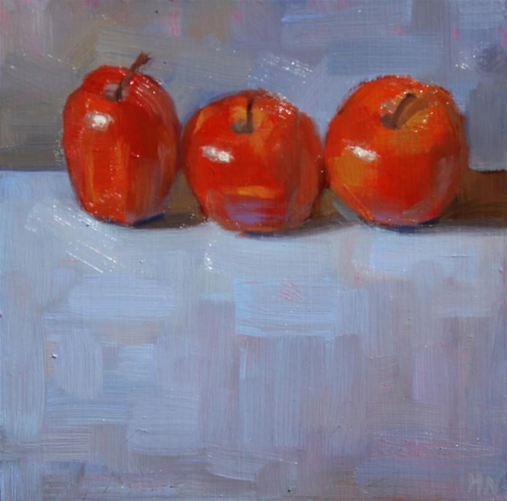 """Apple Trio"" original fine art by Heather Nibert"