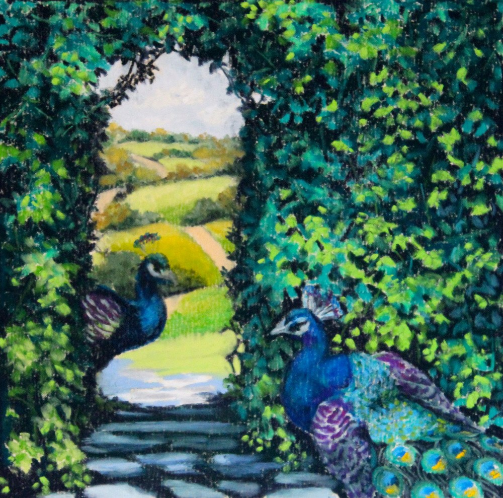 """A Secret Way"" original fine art by Jill Bates"