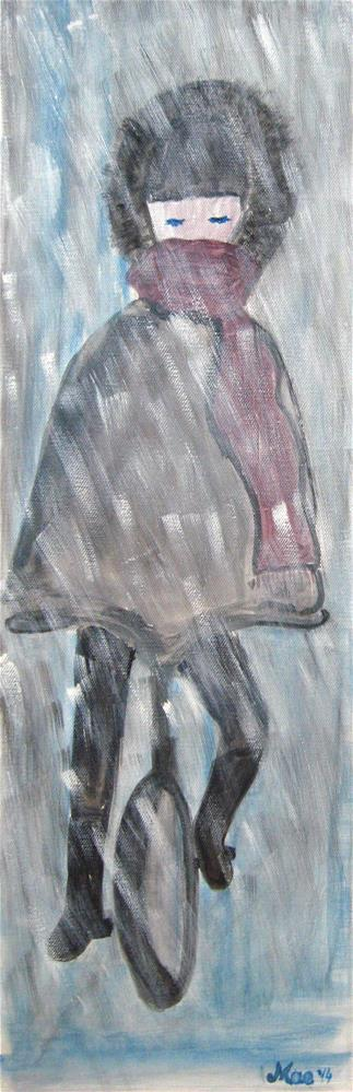 """Snow Rider"" original fine art by Alina Frent"