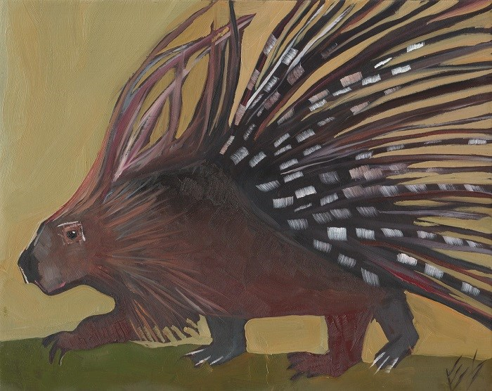 """Porcupine"" original fine art by Elizabeth See"