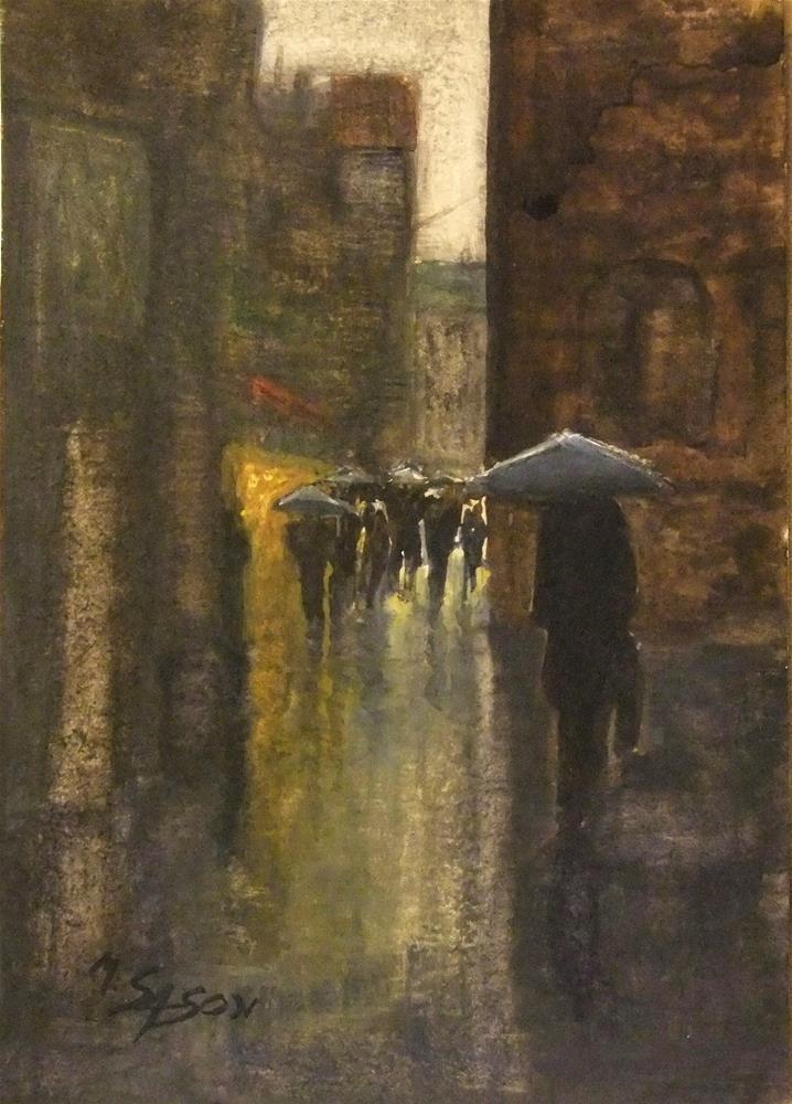 """Another rainy day"" original fine art by Michael Sason"