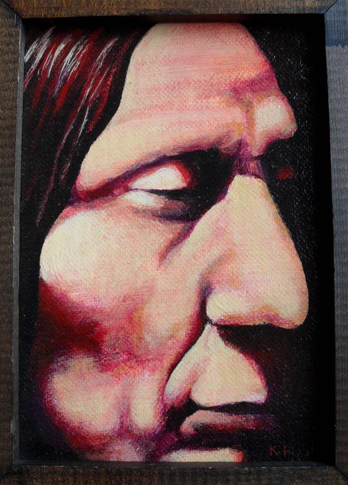 """Meditation of Red Cloud"" original fine art by Karen Roncari"