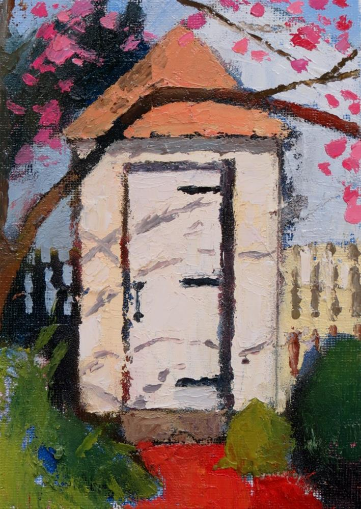 """Outhouse Study"" original fine art by Joan Wiberg"