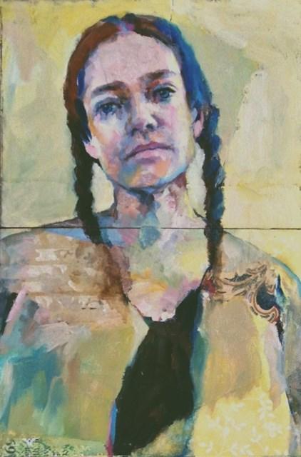 """Indian Like"" original fine art by Katie Wilson"