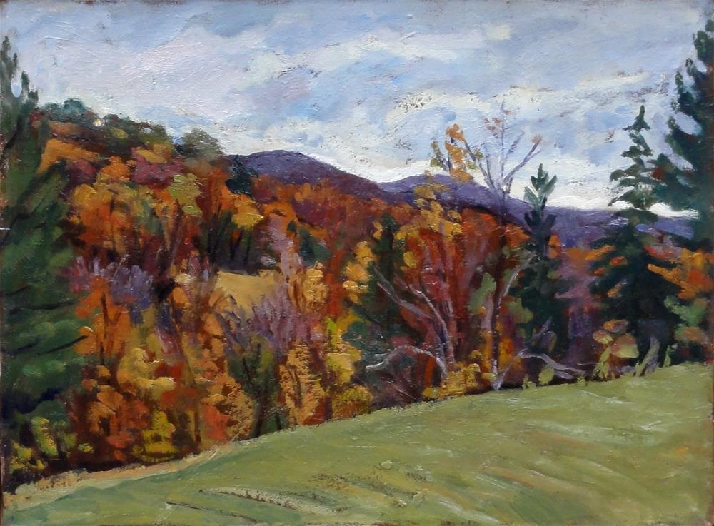 """Autumn Hillside, Berkshires"" original fine art by Thor Wickstrom"