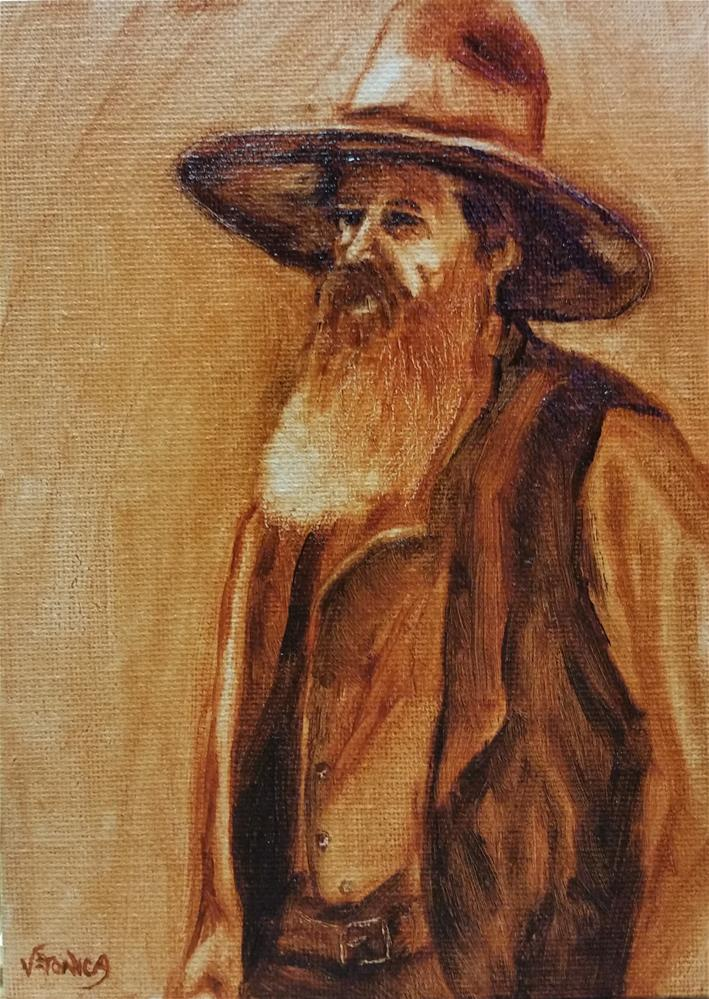"""Plainsman--value study"" original fine art by Veronica Brown"