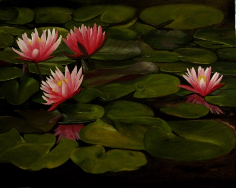 """""""Quiet Pond"""" original fine art by Mary Datum"""