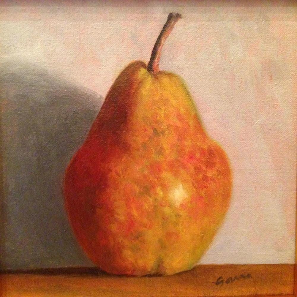 """Golden Pear"" original fine art by Michelle Garro"