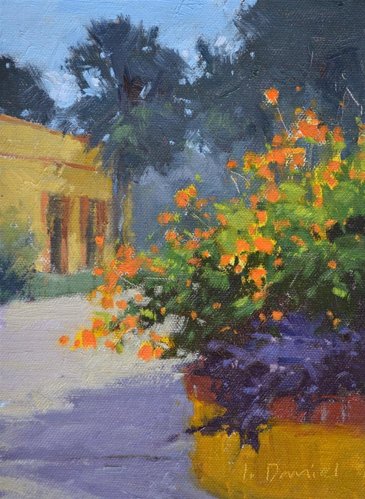 """Garden Fiesta"" original fine art by Laurel Daniel"