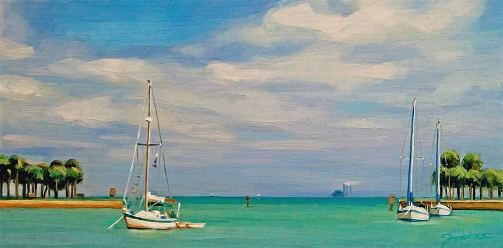 """Spring at St. Pete Pier"" original fine art by Joanna Bingham"