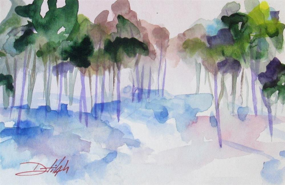 """Romantic Landscape"" original fine art by Delilah Smith"