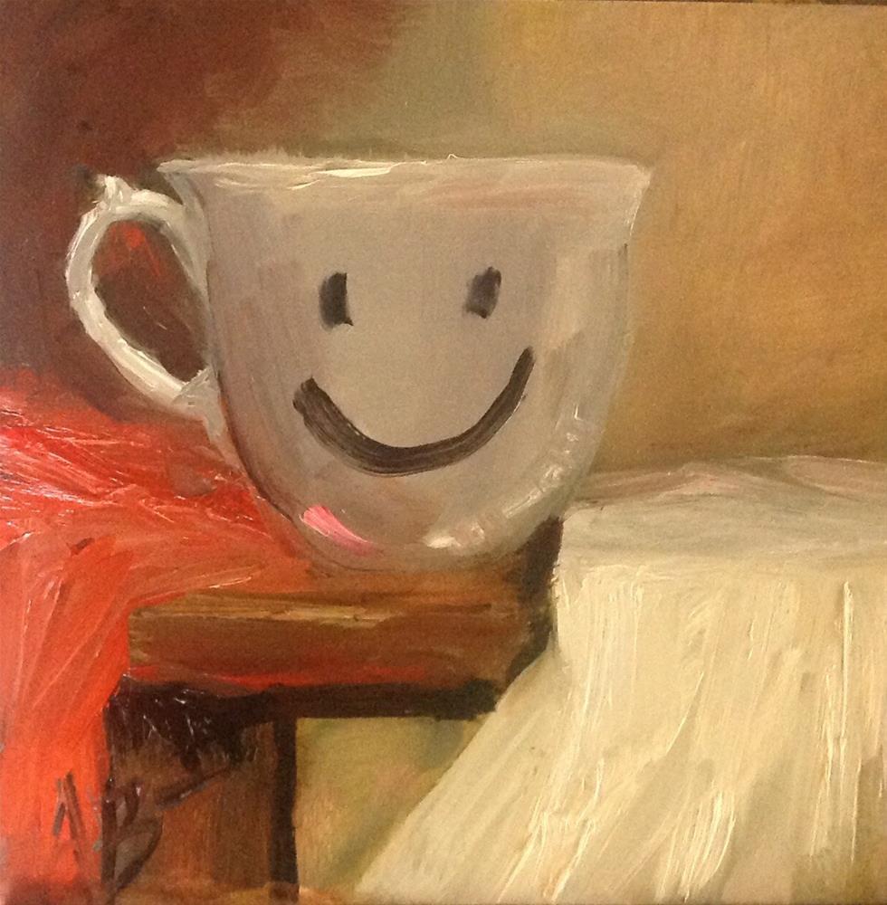 """Happy Face cup"" original fine art by Annette Balesteri"