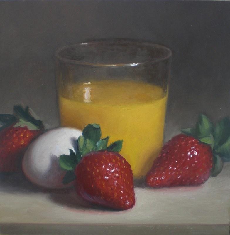 """Breakfast Still Life"" original fine art by Debra Becks Cooper"