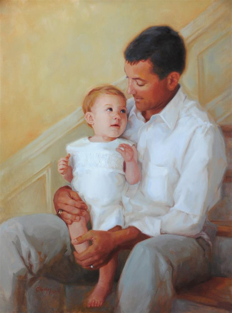 """Charlie and Dad"" original fine art by Cecile W. Morgan"