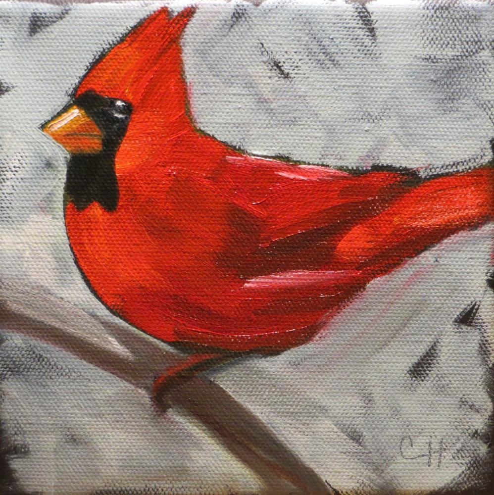 """Cardinal no.2"" original fine art by Claire Henning"