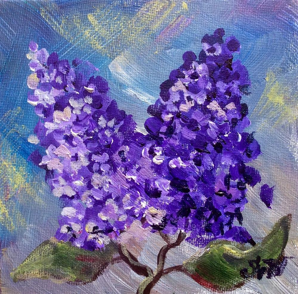 """Lilacs painting"" original fine art by Sonia von Walter"