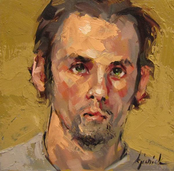 """100 Faces, No. 101"" original fine art by Karin Jurick"