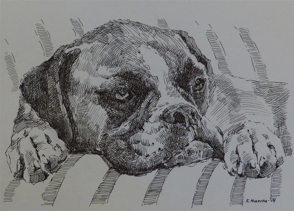 """adopt9"" original fine art by Katya Minkina"