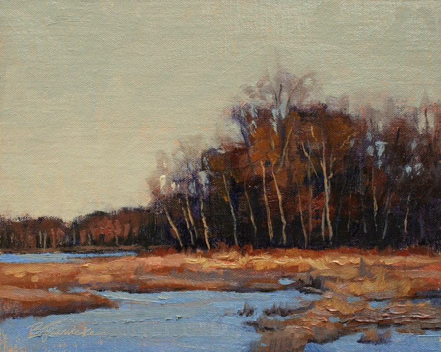"""One November Afternoon"" original fine art by Barbara Jaenicke"