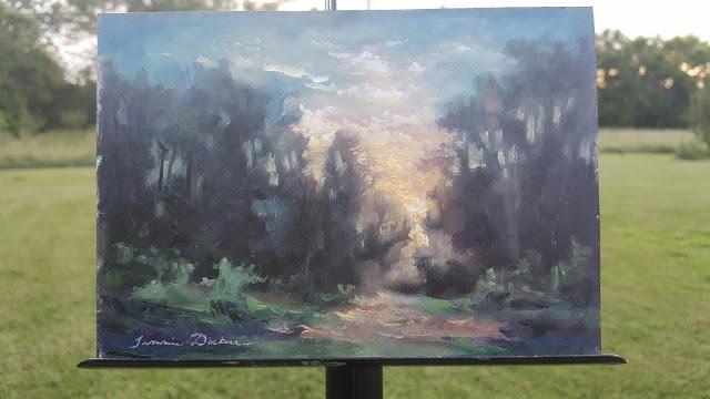 """Fleeting Light"" original fine art by Tammie Dickerson"