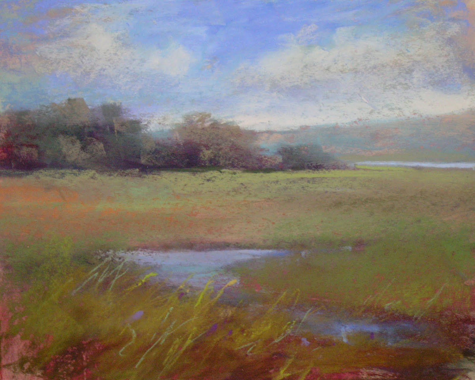 """California Landscape 8x10 pastel"" original fine art by Karen Margulis"