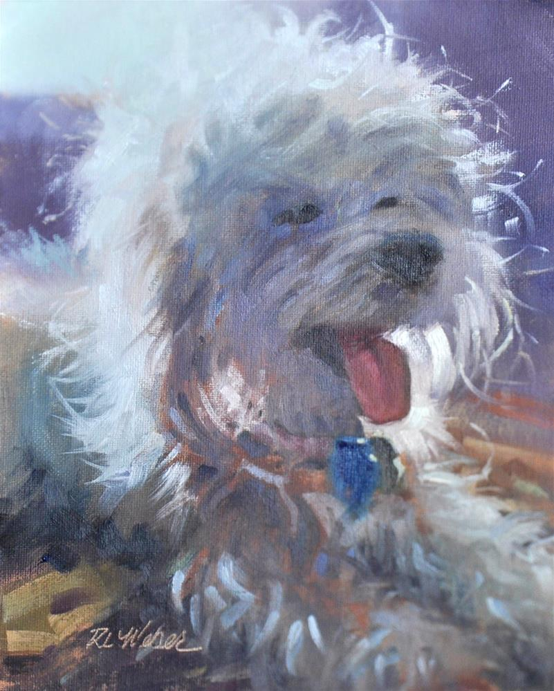 """Happy Dog"" original fine art by Rl Weber"