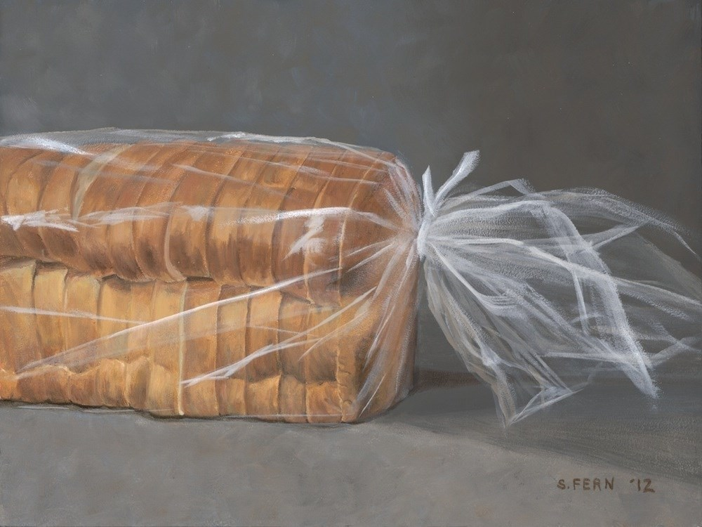 """Loaf of Bread"" original fine art by Susan Fern"