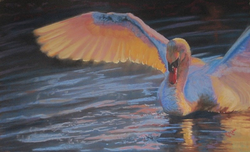 """The Colour of Light"" original fine art by Ruth Mann"
