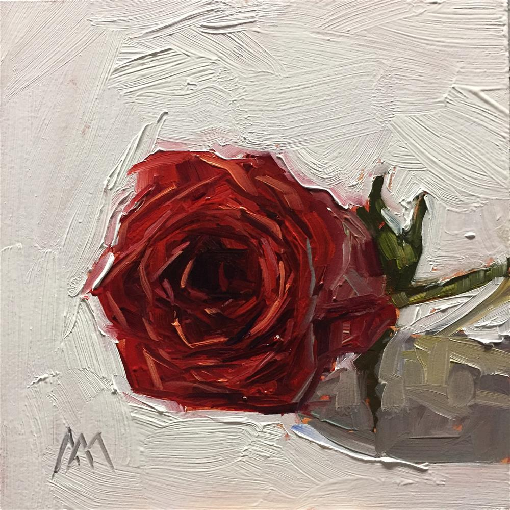 """Red Rose 2"" original fine art by Austin Maloney"