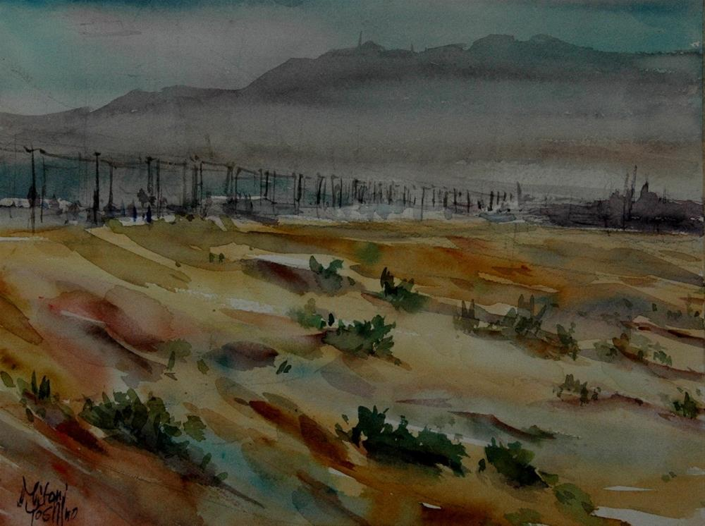 """""""Zakher area in Al Ain"""" original fine art by Midori Yoshino"""