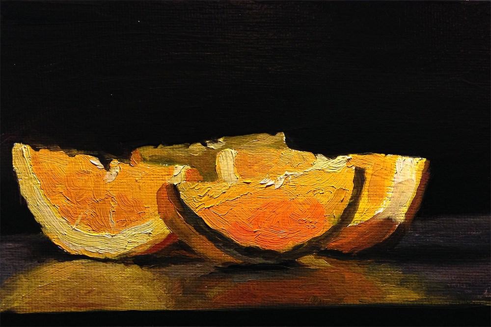 """Divided Orange"" original fine art by Chris Beaven"